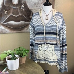 Beautiful Lace Accent Sweater!
